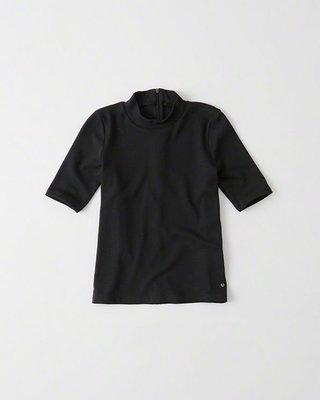 Maple麋鹿小舖 Abercrombie&Fitch * AF 黑色素面短T * ( 現貨M號 )