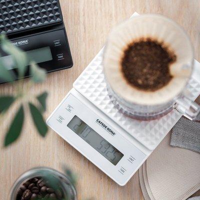 【豐原哈比店面經營】CAFEDE KONA  智能LED大屏計時電子磅秤 手沖咖啡專業電子秤 非供交易使用