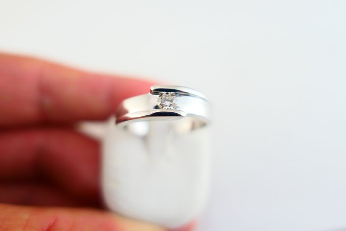 [吉宏精品交流中心]22分 天然鑽石 八心八箭 白K金 造型 戒指 男戒
