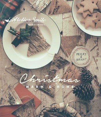 [ Atelier Smile ] 鄉村雜貨 手作三角旗 INS爆款 北歐風 原木樺樹皮掛旗 聖誕裝飾 布旗 裝飾