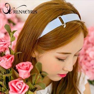 BHI1181-法國品牌RenaChris 韓國布藝純色優雅髮圈 髮帶【韓國製】