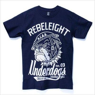 【REBEL8】Underdogs 純棉圓筒Tee (藍色)