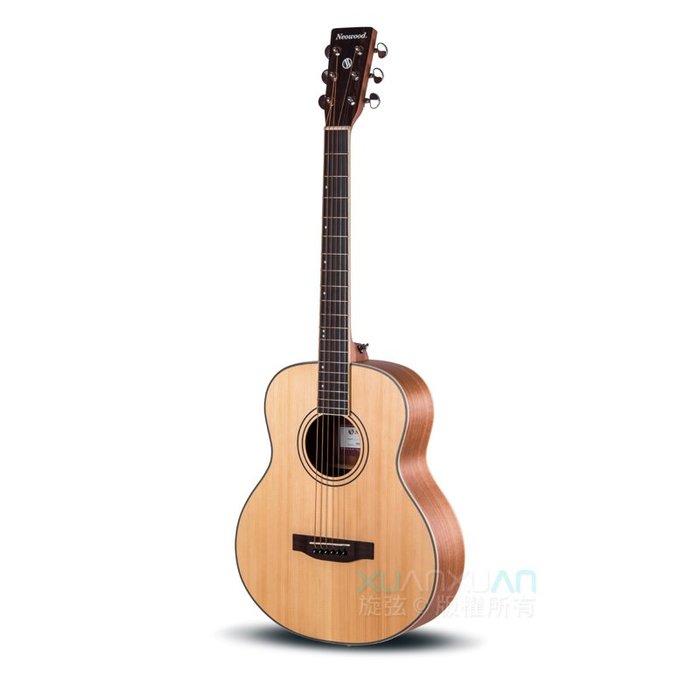 ☆唐尼樂器︵☆分期免運 Neowood SGS-L GS-MINI 桶身 雲杉面單板 雷斯木側背板 民謠吉他 附超值配件