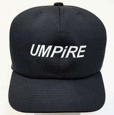 全新款 UMPIRE 棒球壘球通用款黑色主審帽壘審帽二用款裁判帽