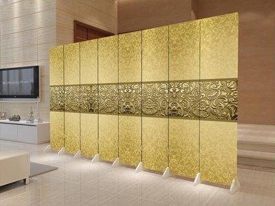 中式現代簡約屏風隔斷折屏時尚客廳酒店實木雙面臥室布藝行動玄關 xw  快速出貨