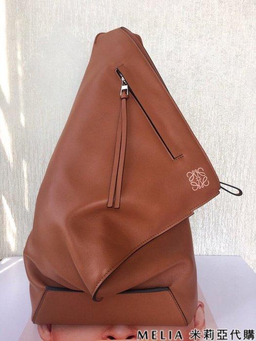 Melia 米莉亞代購 商城特價 數量有限 每日更新 19ss LOEWE ANTON BAG 時尚單肩三角設計 咖啡色