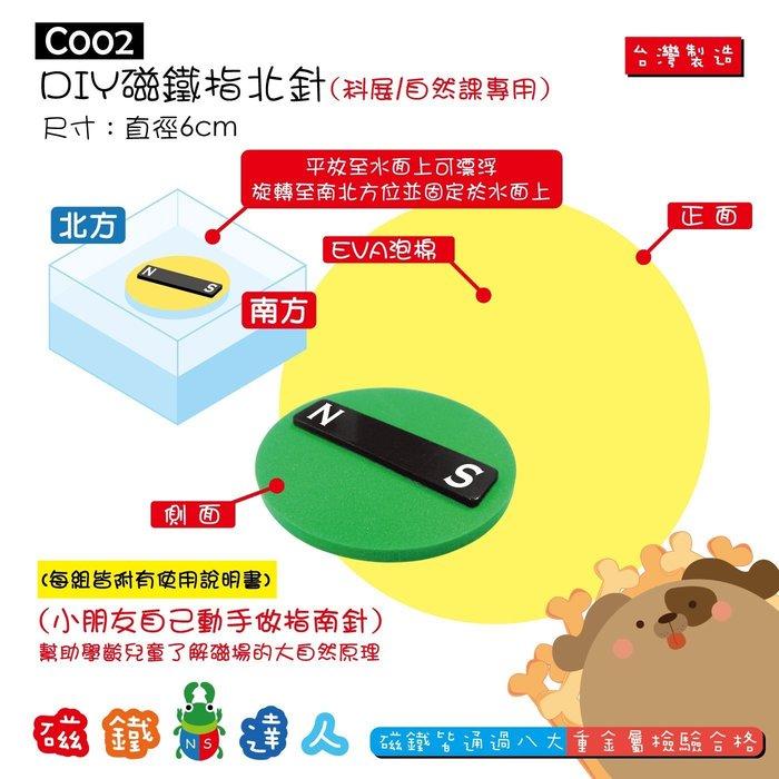 【磁鐵達人】C002 DIY磁鐵指北針(科展/自然課專用)