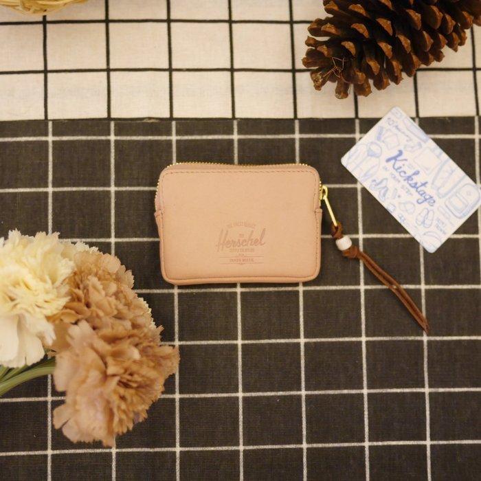 KS▸Herschel OXFORD WALLET LEATHER 粉紅 牛八戈 零錢包【10052L-01346】