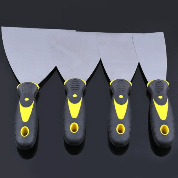 雙色柄鏡面油灰刀2寸 多規格膩子刮刀 耐腐耐鏽鋼制油灰刀