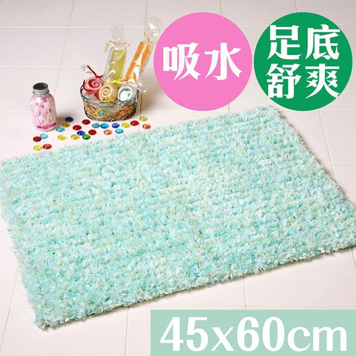 【日本YOKOZUNA】Candy Floss 吸水浴墊45x60cm 糖果藍
