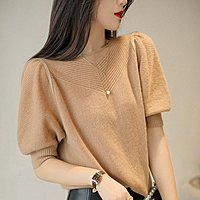 秋冬新款 溫暖美麗 仙柔韓式小泡泡袖