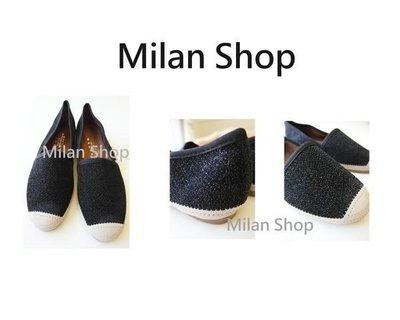 ☆Milan Shop☆網路最低價 正韓 Korea 超好穿舒適金蔥便鞋懶人鞋平底鞋$850(含運)