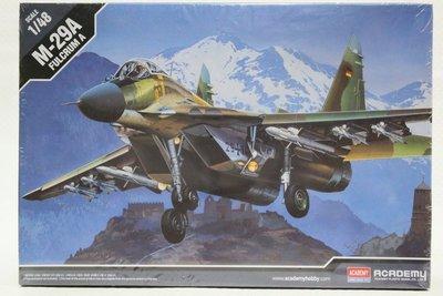 【統一模型玩具店】ACADEMY《俄國/蘇聯 米格29戰鬥機 M-29A FULCRUM A》1:48 # 12263