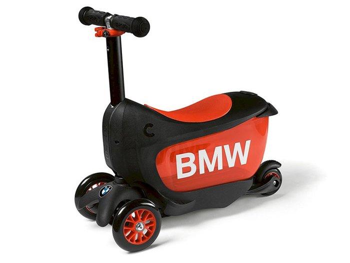 【樂駒】BMW 原廠 生活 精品 兒童 孩童 Kids Scooter 滑板車 學步車 兩用 學習 黑色 橘色