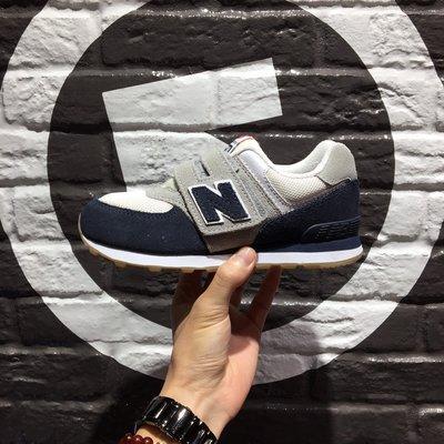 【豬豬老闆】New Balance NB 574 深藍 灰白 魔鬼氈 復古 休閒 慢跑鞋 中童 女鞋 KV574RKY