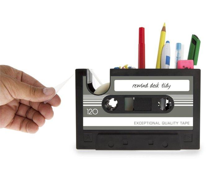 「錄音帶造型 筆筒/膠帶座」( 大 / L ) 音樂設計款