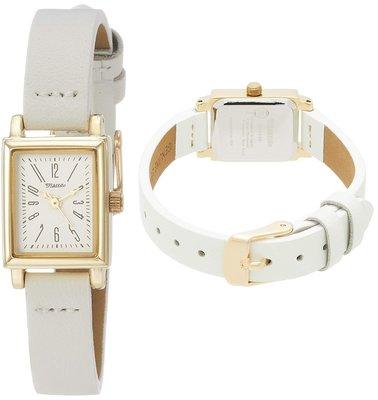 日本正版 Fieldwork QKS138-1 方型 腕錶 女錶 女用 手錶 白色 真皮錶帶 日本代購