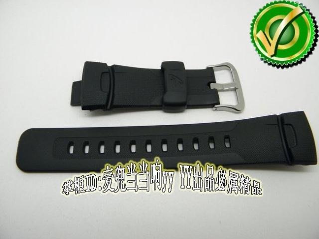 手錶帶 手錶配件原裝正品CASIO手表配件 GW-1500/GW-1501黑色膠帶 卡西歐表帶配件手錶配件 錶帶 =男女