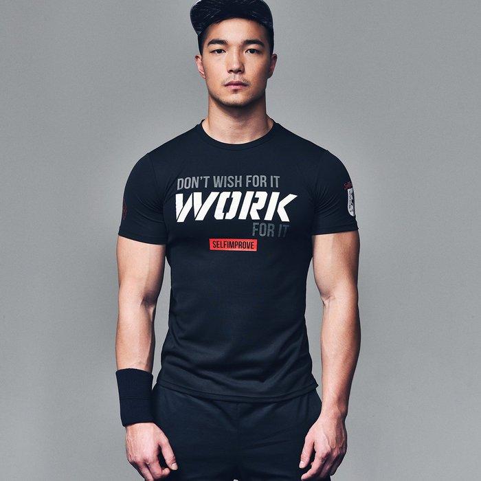 【OTOKO Men's Boutique】固制:360°透氣排汗訓練運動短袖/黑色/(台灣獨家代理)