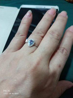 丹泉石925純銀戒指