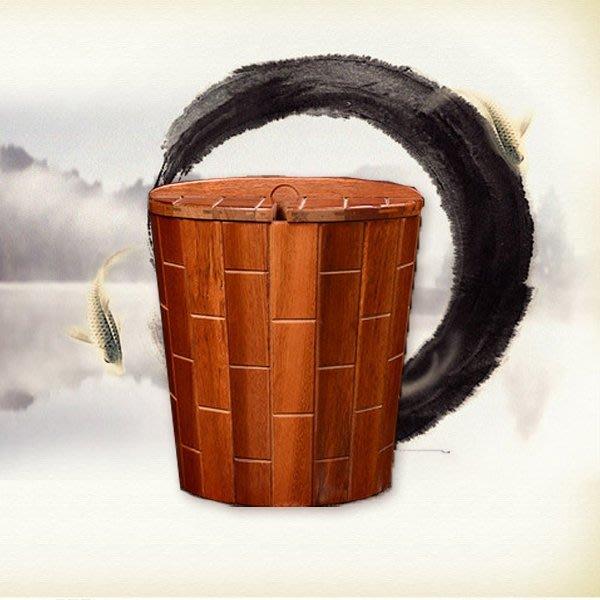 5Cgo【茗道】含稅會員有優惠 42181772594 秦國黑檀木實木茶桶竹制茶渣桶花梨木茶水桶茶道零配件茶盤排水儲水桶
