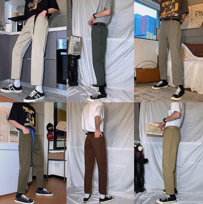 【NoComment】街頭休閒 質感百搭 九分素面直筒休閒長褲 六色 UNIQLO SUPREME