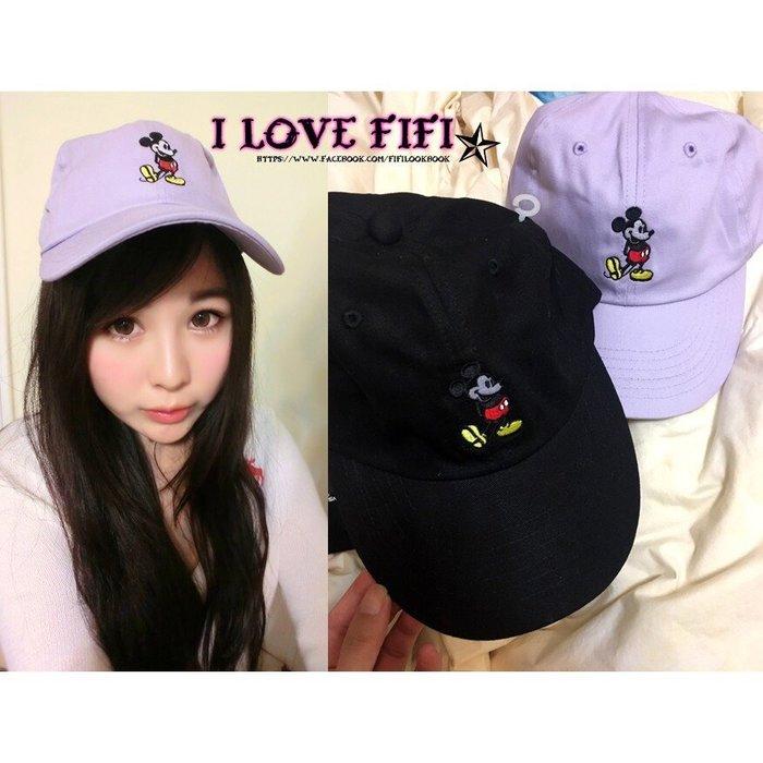 ❤FIFI in jp❤日本帶回迪士尼disney正版授權復古經典刺繡米奇棒球帽老帽紫色黑色情人節禮物