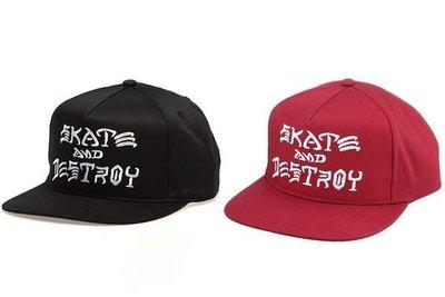 { POISON } THRASHER SKATE & DESTROY SNAPBACK HAT 經典標語後扣式棒球帽