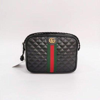 ✔️Alan艾倫歐美代購™️ GUCCI quilted leather shoulder 菱格復古 黑色 小款肩包