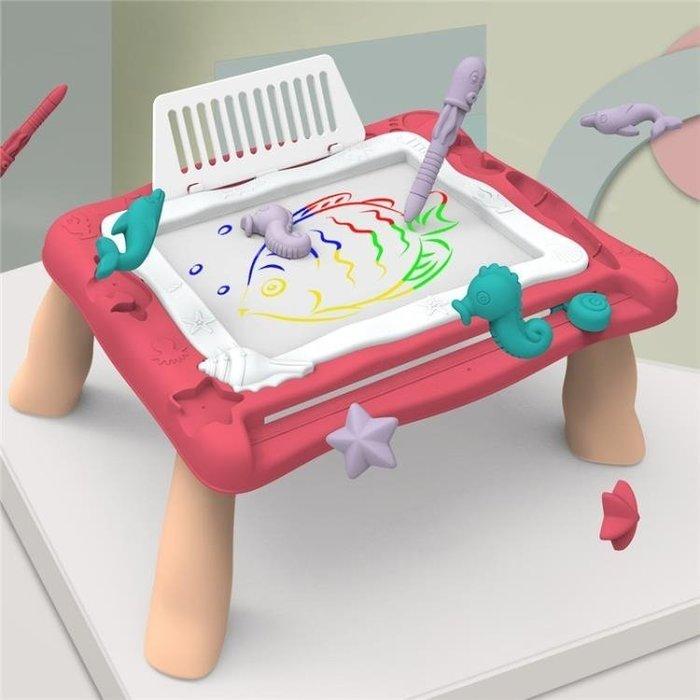 兒童畫板支架式寫字板女孩幼兒家用涂鴉板磁性畫畫寶寶畫板桌玩具