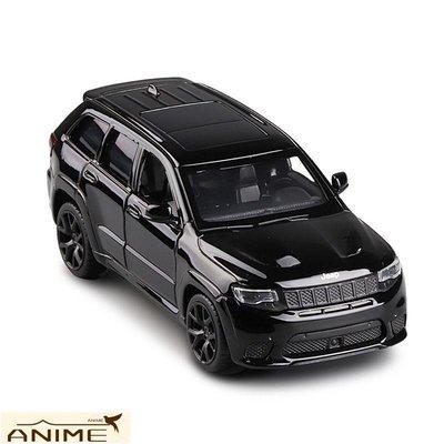 ∞Anime∞1/36 JEEP大切諾基賽道鷹越野合金車模2開門回力兒童模型玩具