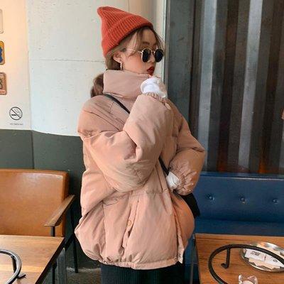 [Margot]2018新款冬季韓版BF風寬松立領加棉加厚棉衣面包服學生棉服外套女