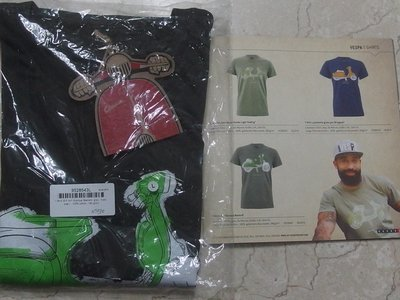 【德國 SIP】偉士牌Vespa 短袖限量  T-shirt 灰色 L  Art.No. 9528543L