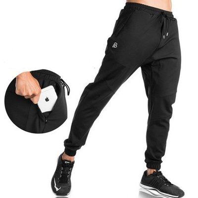 運動褲 訓練褲長褲肌肉兄弟 健身跑步運動衛褲修身純棉縮口褲—莎芭