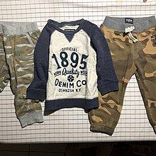 麗嬰房 Oshkosh 兩件組 18-24m 贈Uniqlo 迷彩褲90