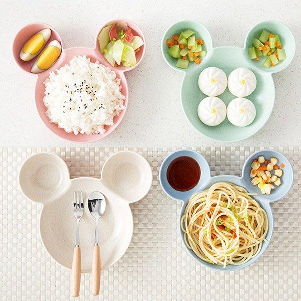 《Jami Honey》【JH1026】環保小麥粒米奇大耳朵餐盤 盤子 (淺款&深款)