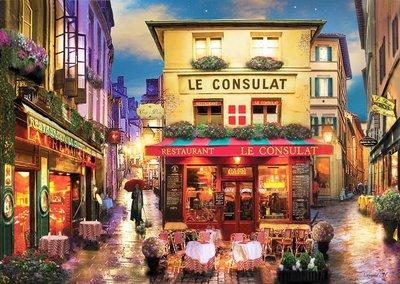 歐洲拼圖 PER.繪畫風景 DAVID MACLEAN 轉角咖啡屋 歐洲街道 1500片拼圖,4552