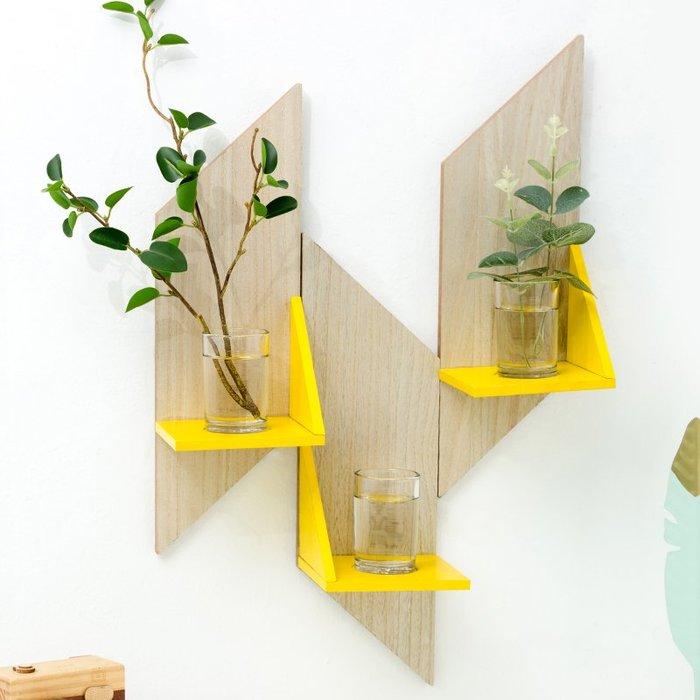 〖洋碼頭〗創意牆上花瓶水培壁飾壁掛裝飾品簡約現代家居室內牆面牆壁置物架 fjs567