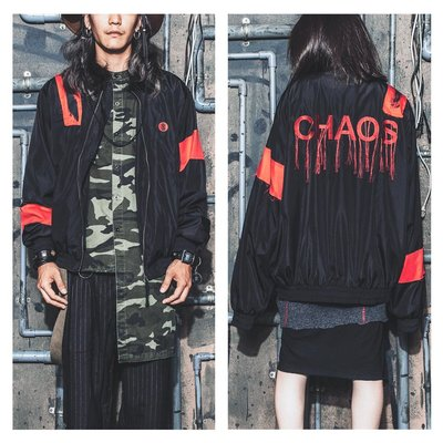 美國東村【SLIGHTLY NUMB】 CHAOS WINDBREAKER 紅 貼布 電繡 LOGO 防風 外套