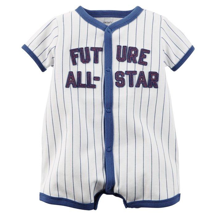 *Elaine小舖逛街趣*美國Carter's正品棒球之星短袖連身裝9M 12M 清倉