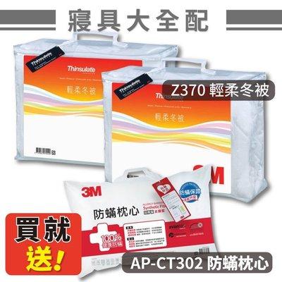 【公司原廠貨】3M Z370 輕柔冬被x2(雙人標準6X7)+1入防蟎枕(AP-CT302)