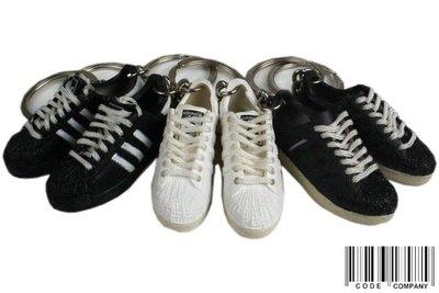 =CodE= ADIDAS SUPERSTAR 小鞋模型鑰匙圈(黑.白) APE NEIGHBORHOOD 吊飾 金標 台北市
