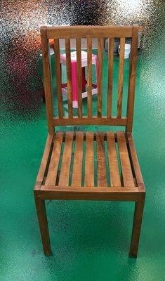 台中二手家具推薦 大里宏品全新中古傢俱 家電 AC109BE*庫存7條原木柚木餐椅 戶外休閒桌椅*書桌椅 電腦椅 麻將椅