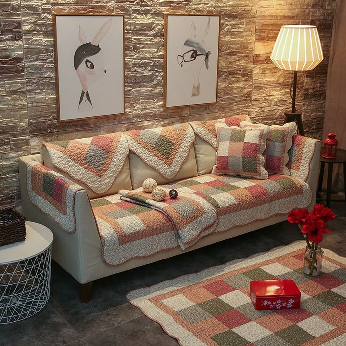 沙發墊 沙發巾 水洗全棉沙發墊四季通用簡約現代客廳防滑純棉組合布藝套罩巾坐墊