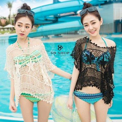 SB睡美人【簍空短版 勾花背心-2色】ts73 背心 罩衫 遮肚肚~可搭 比基尼泳裝泳衣BRA海灘裙