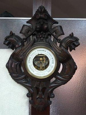 法國 黑森林 古董級 晴雨計 / 氣壓計