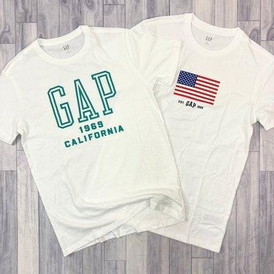 衝評 7916 CK1 GAP 白色 綠LOGO 國旗LOGO 偏薄涼爽 gap 短袖 T恤 保證正品
