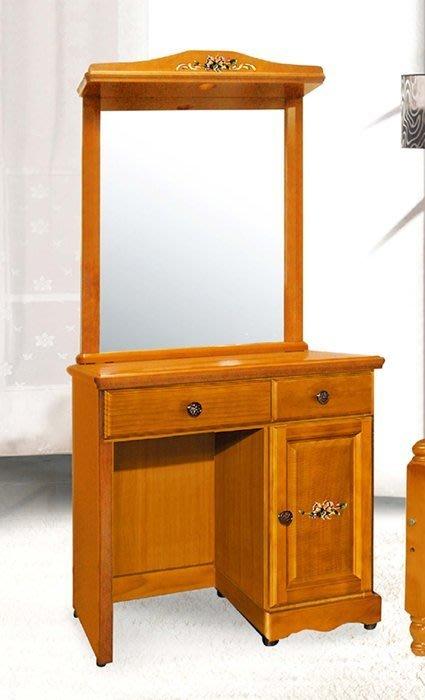 【DH】商品貨號CK-F308商品名稱《艾蜜》三尺歐風時尚實木彩繪鏡台椅組(圖一)備有四尺/白色另計。主要地區免運費