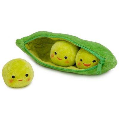 【JUJU disney美代購網】超級可愛豌豆3兄弟筆袋布偶8寸長