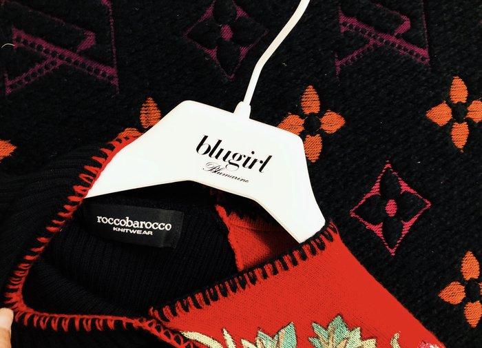 roccobarocco 黑X紅 刺繡中國風針織衫